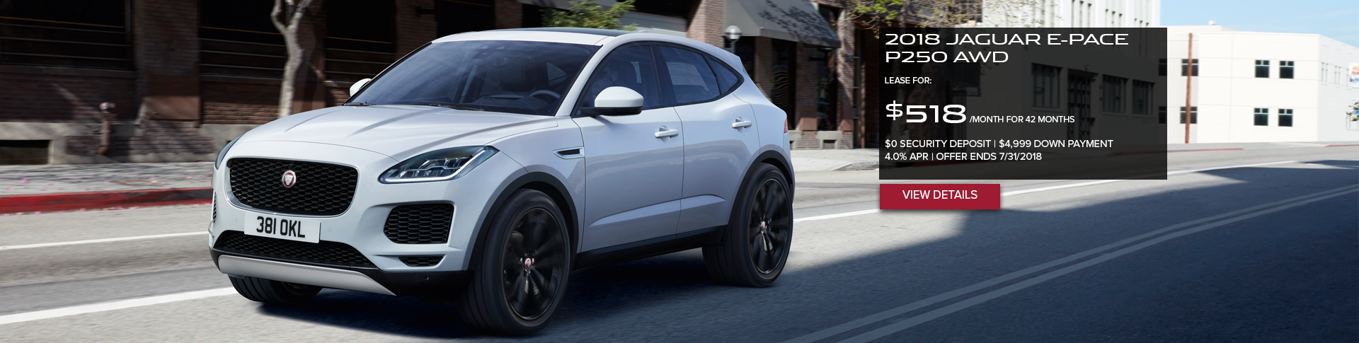 July 2018 E-PACE Offer