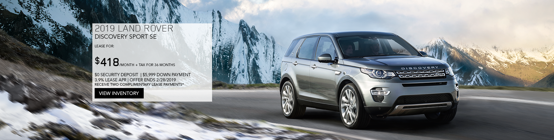 February Discovery Sport Lease Offer