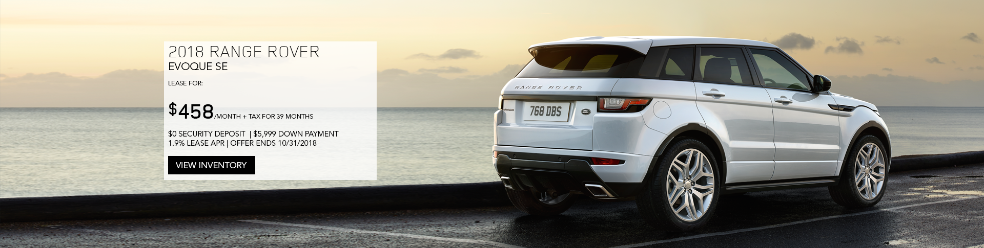 October Evoque Offer