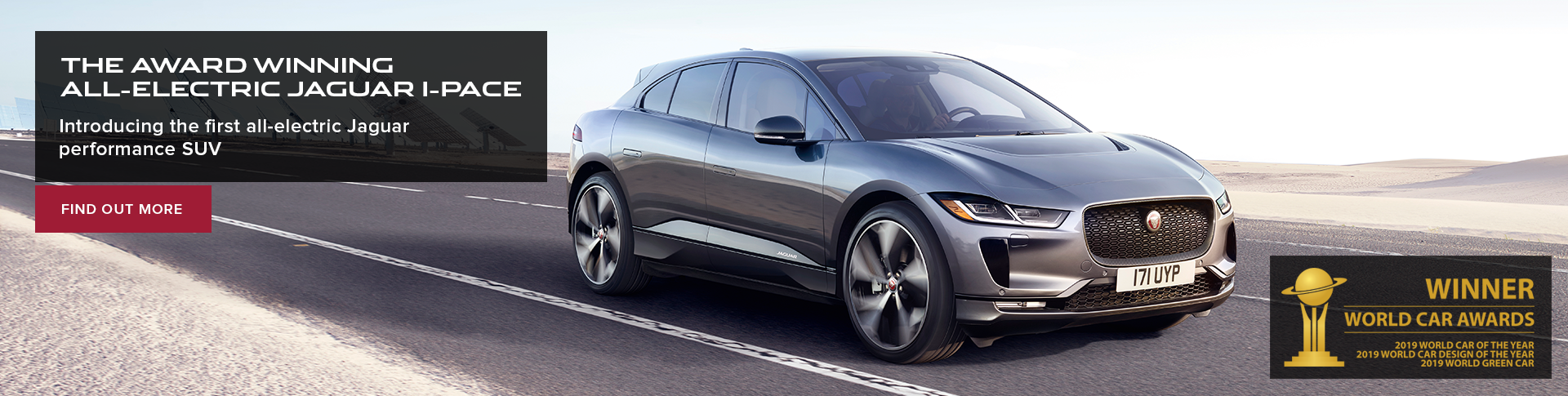The award winning all-electric I-PACE