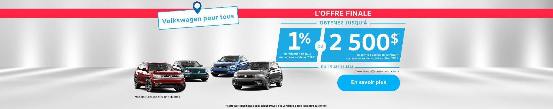 Volkswagen événement pour tous short sale