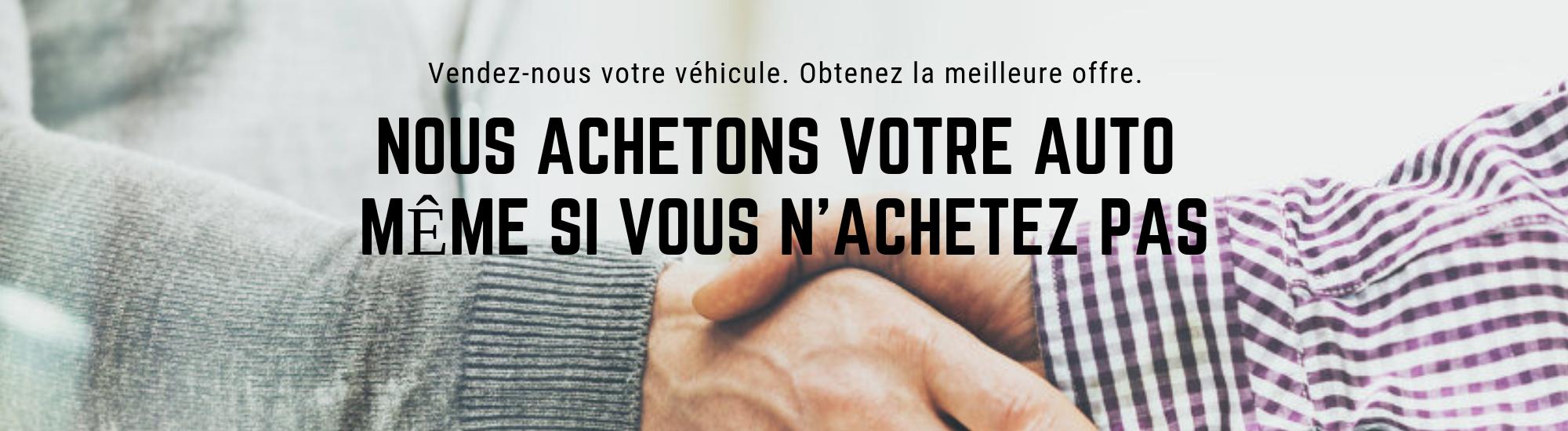 Vendez-nous votre véhicule