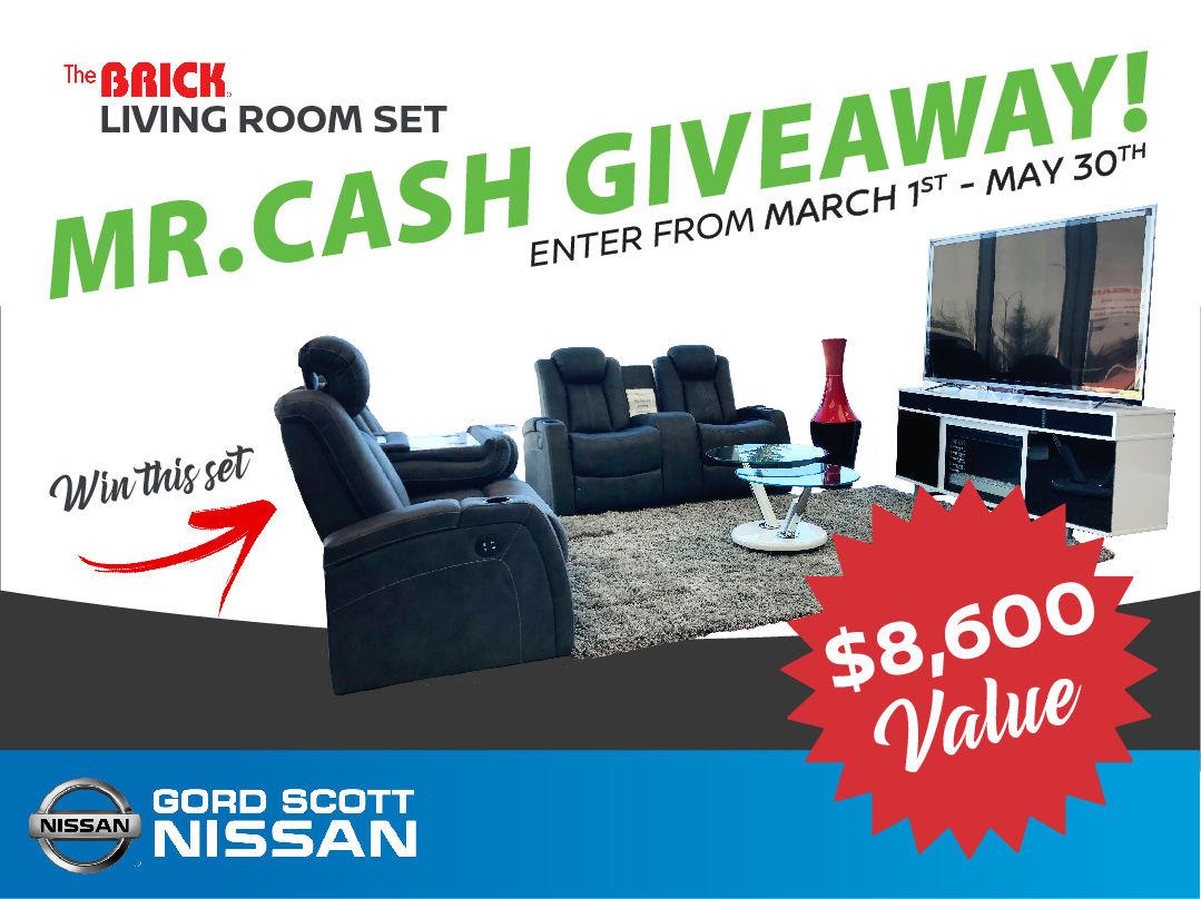 MR.CASH Living Room Set GIVEAWAY!