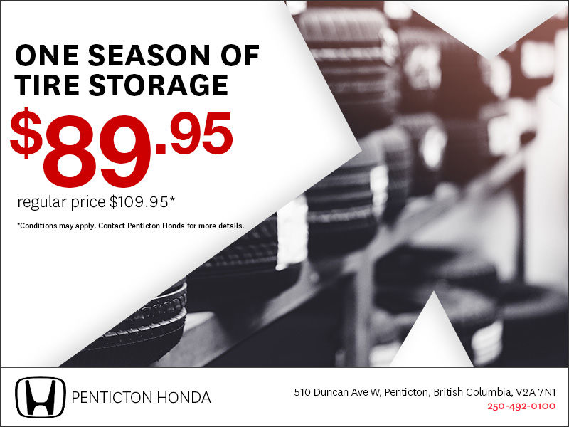 Introductory tire storage offer