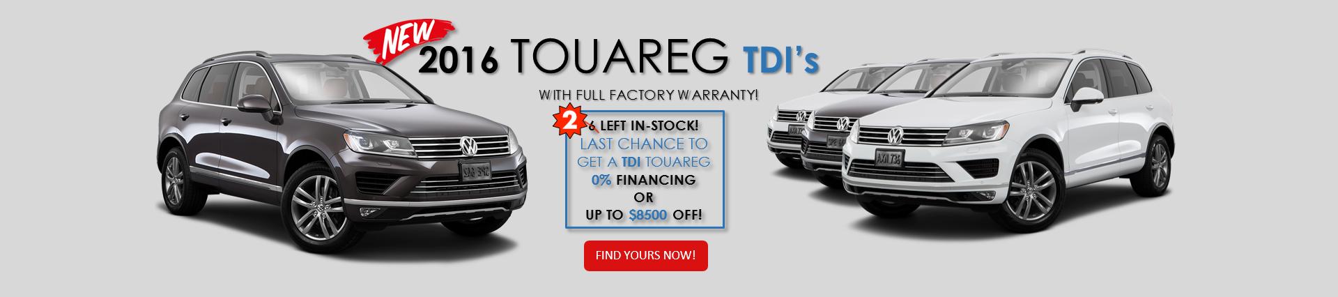 2016 Touareg TDI's