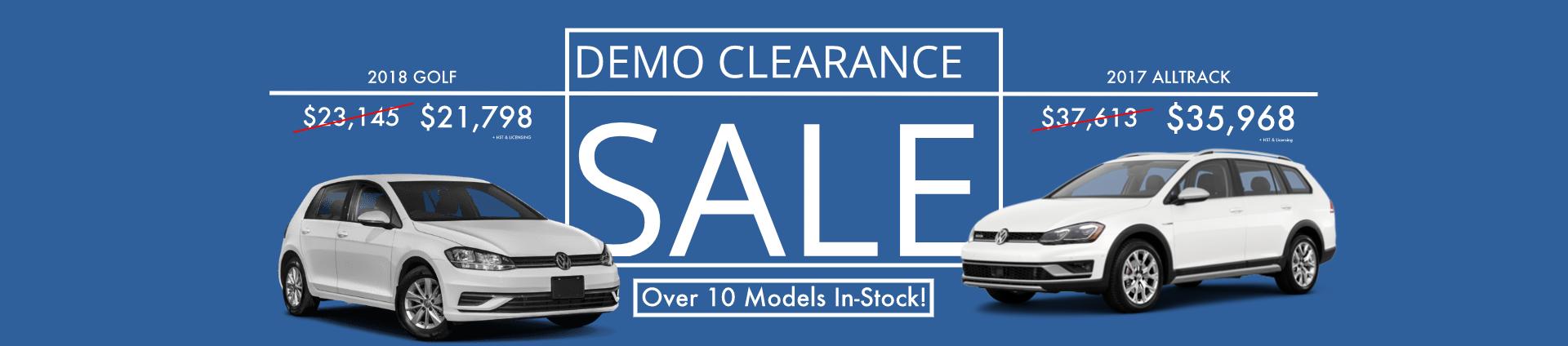 Demo Clearance Sale