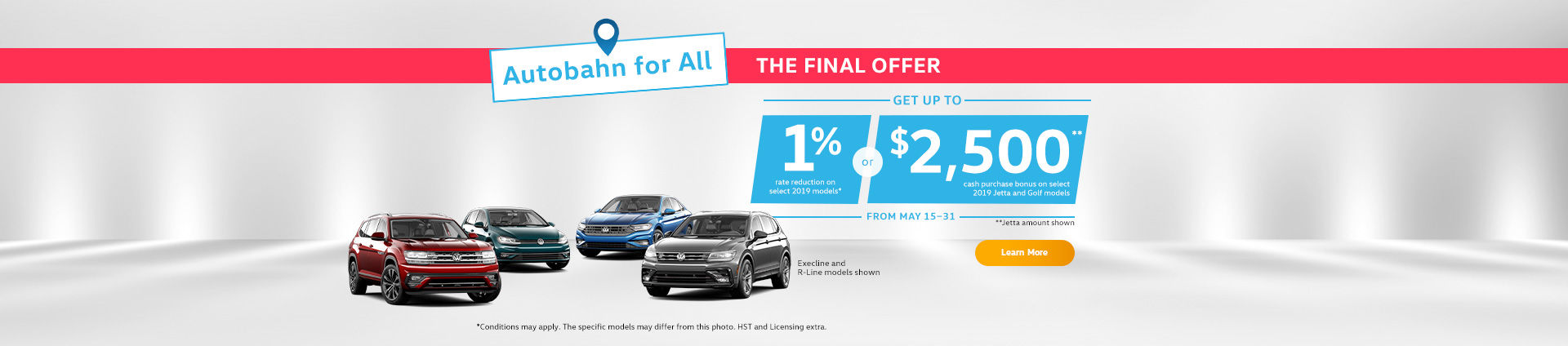 Volkswagen Autobahn Sales Event!  short sale