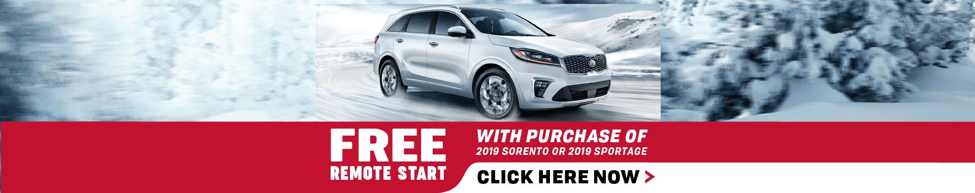 Free Remote Start - Sorento & Sportage