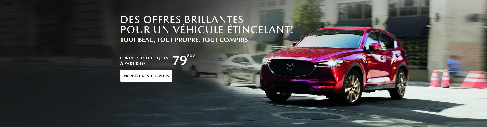 Offres esthétiques Mazda
