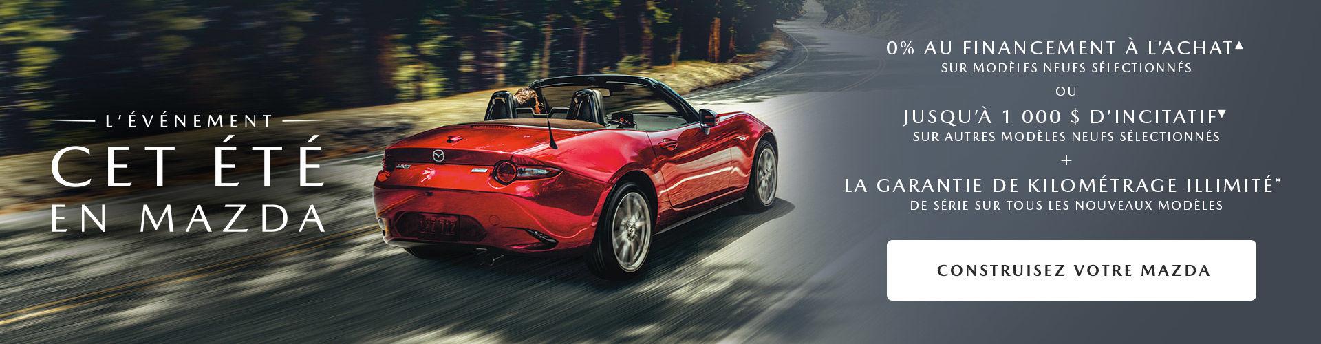 C'est l'événement cet été en Mazda