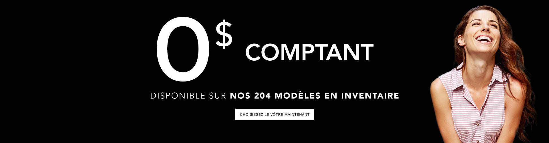 0 comptant sur 204 modèles