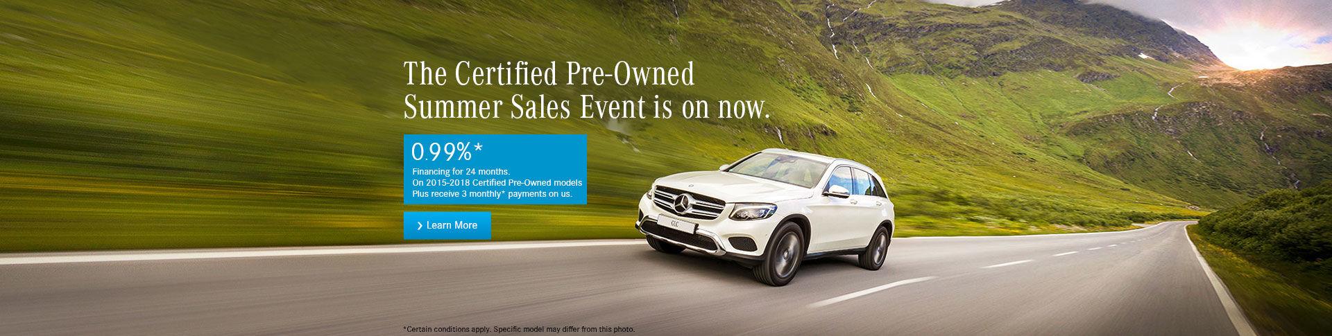 Mercedes-Benz CPO Summer Sales Event!