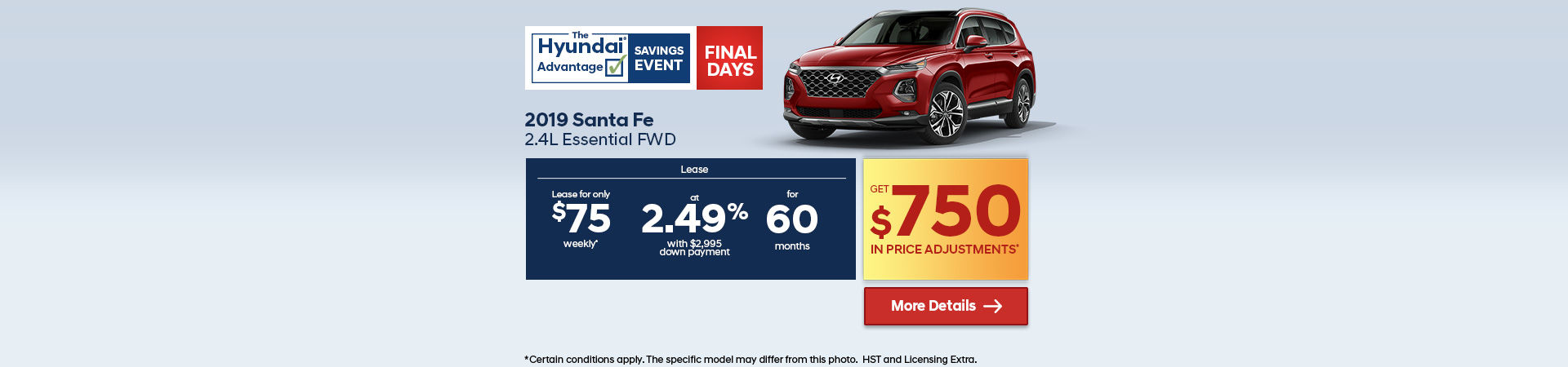 Get the 2019 Hyundai SantaFe