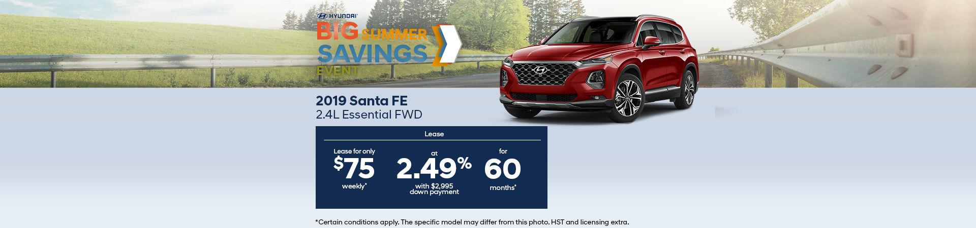 Get the 2019 Hyundai SantaFe
