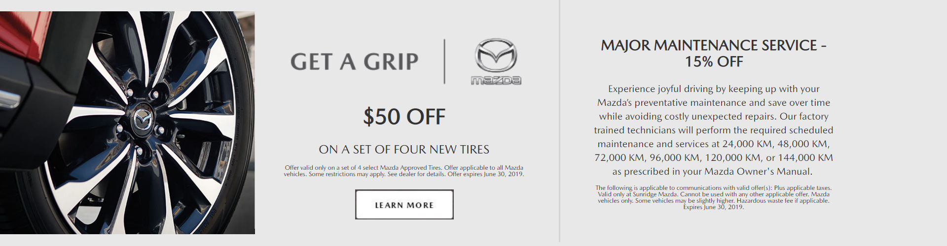 Get $50 Off Tires and 15% Off Major Maintenance