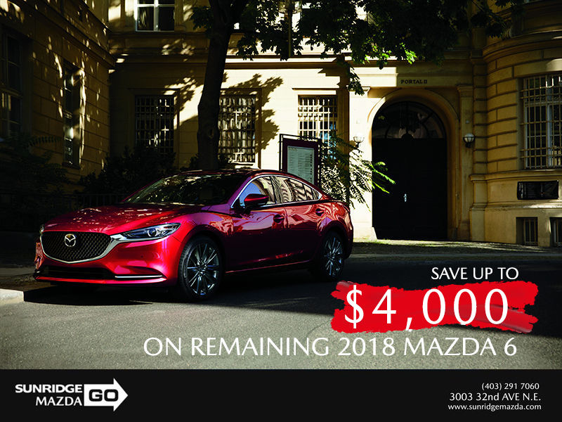 Save up to $4,000 on 2018 Mazda 6