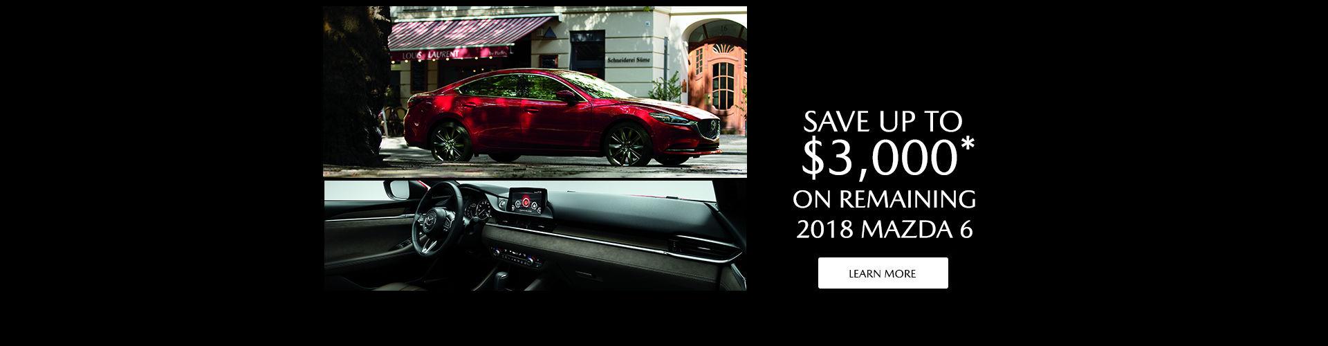 2018 Mazda 6 Clearance