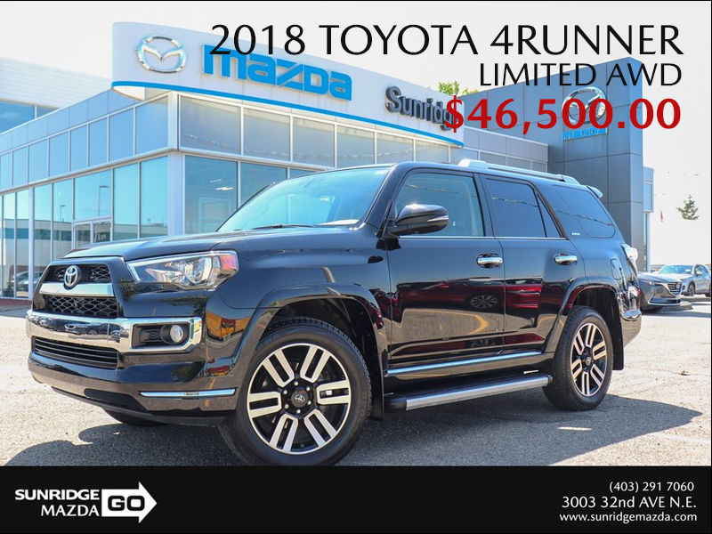 Get a 2018 Toyota 4Runner Limited Today!