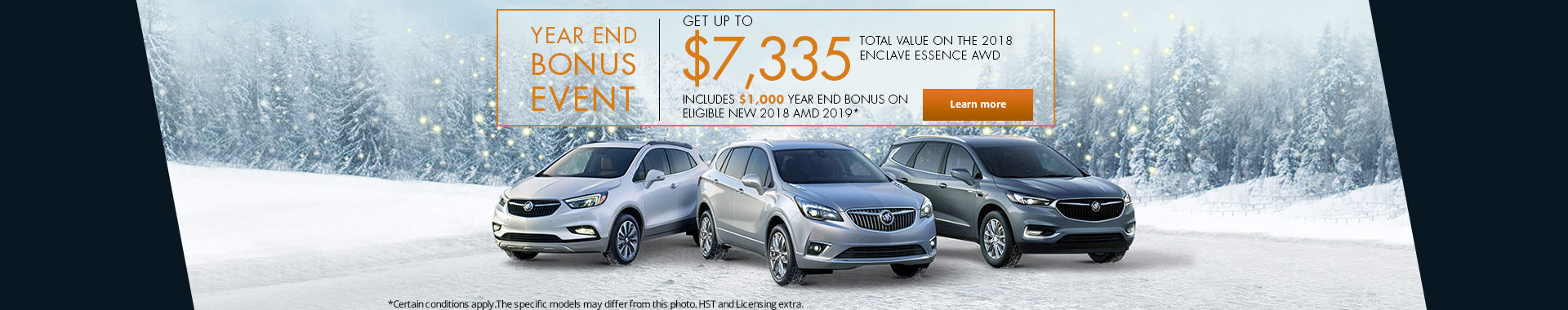 Year end bonus event - Buick
