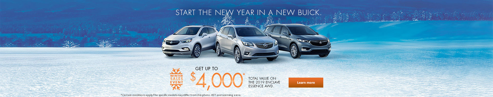 Buick's Winter Sales event