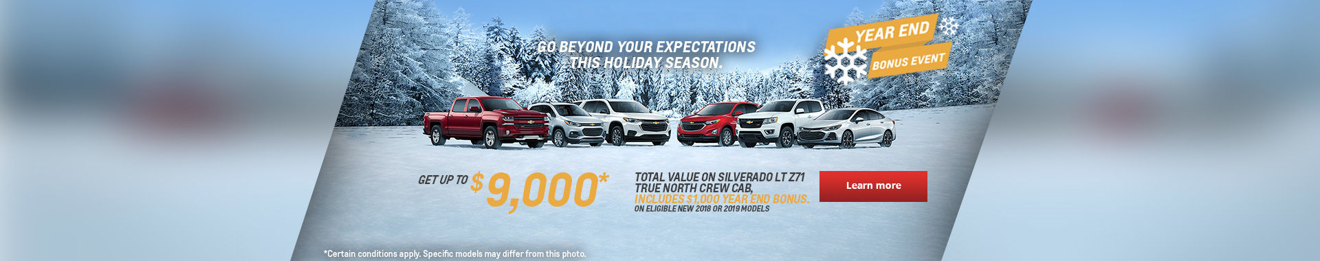 Chevrolet's Year End Bonus Event!