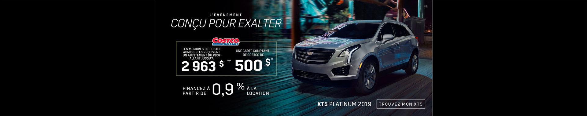 Cadillac XT5 - Aout 2019