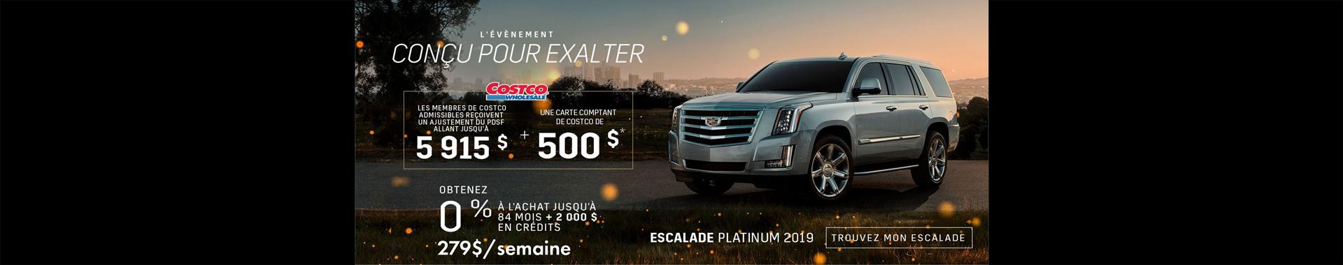 Cadillac Escalade - Aout 2019