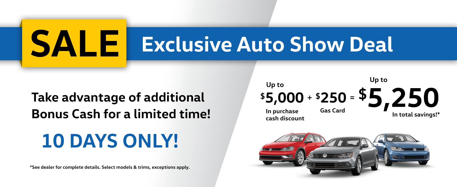 Auto Show Deal