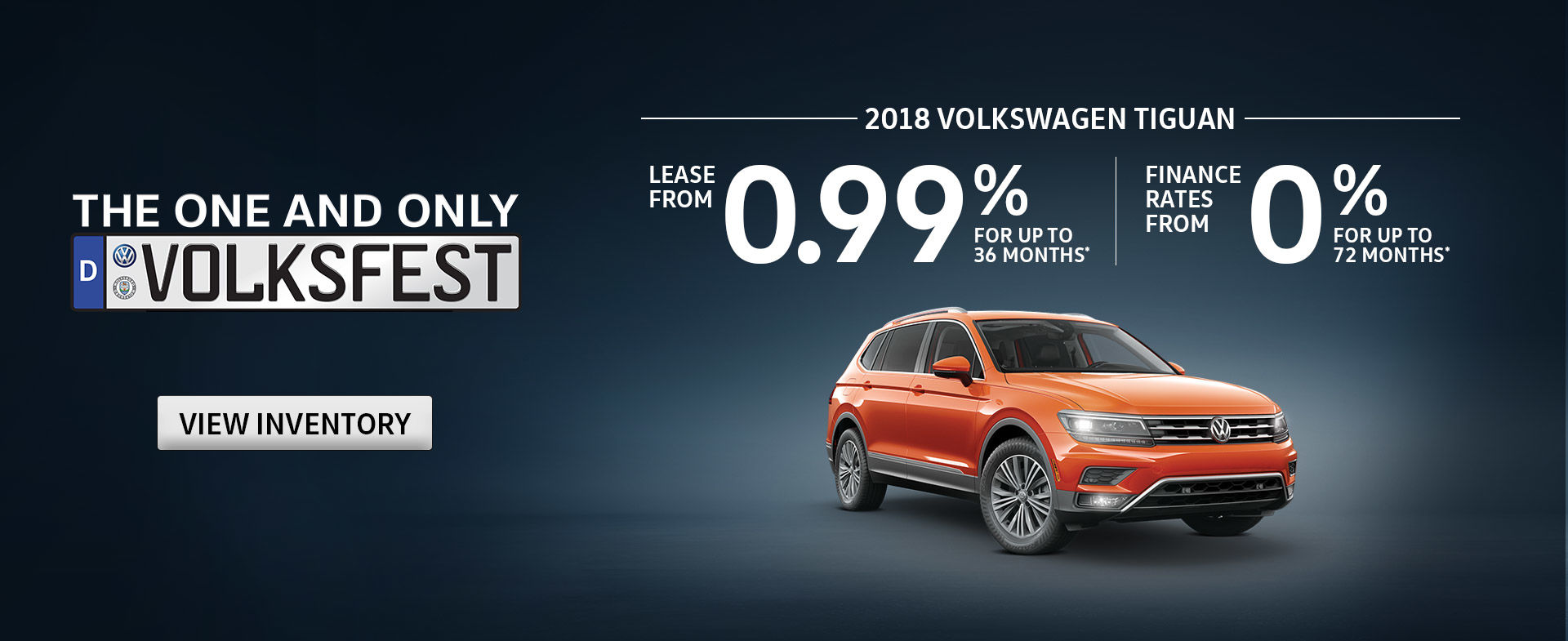 Shop Tiguan Offers this October