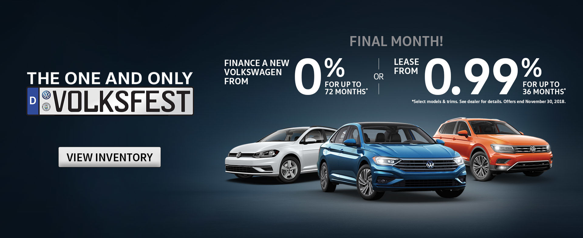 Shop Volksfest Offers this November!