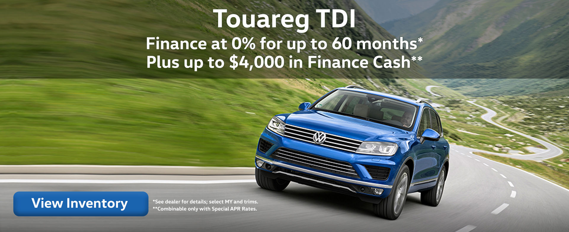 Last Chance Finance Rates on 2015/16 VW Touareg Models!
