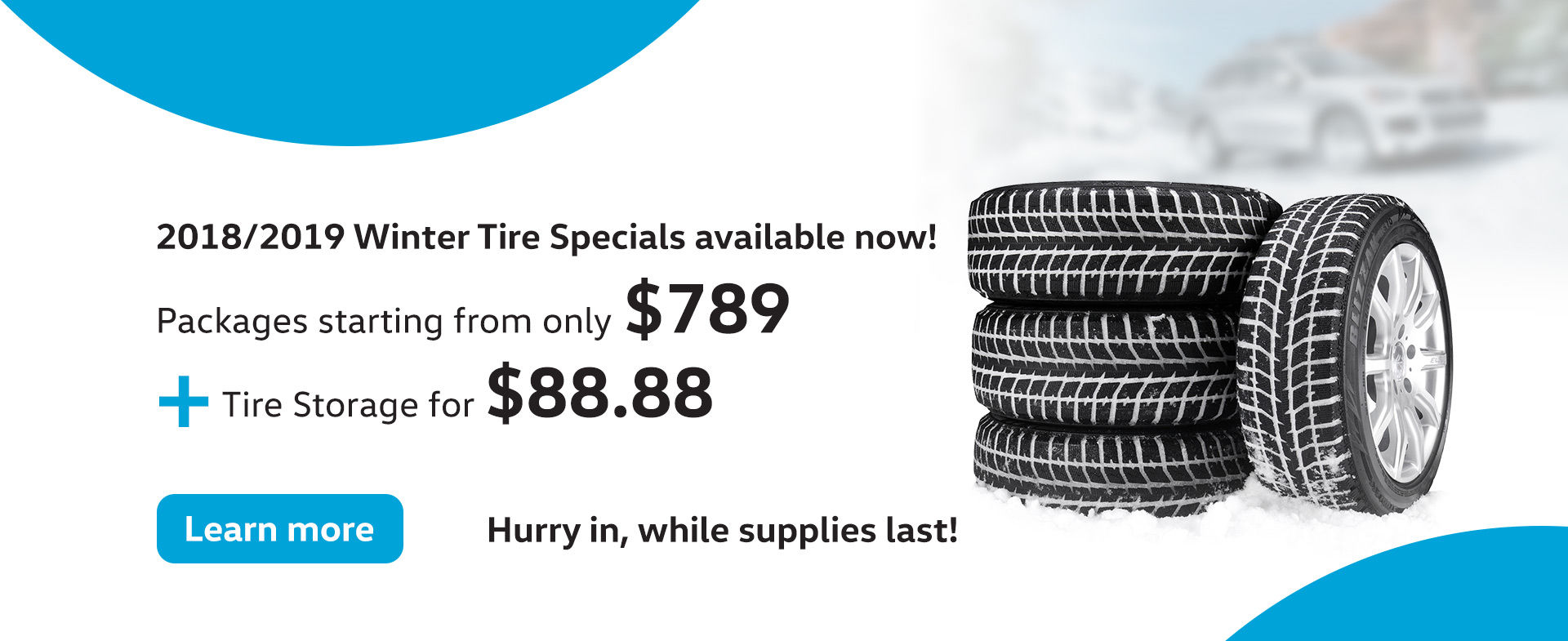 Winter Tire Packages Now Available