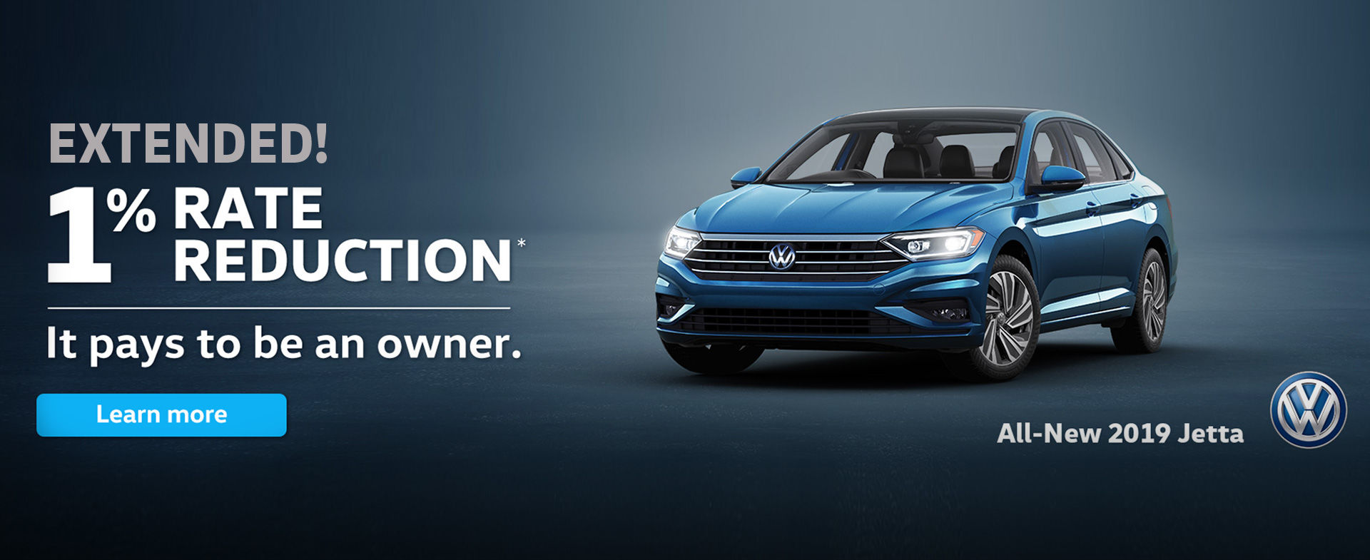 1% Rate Reduction on Jetta - December