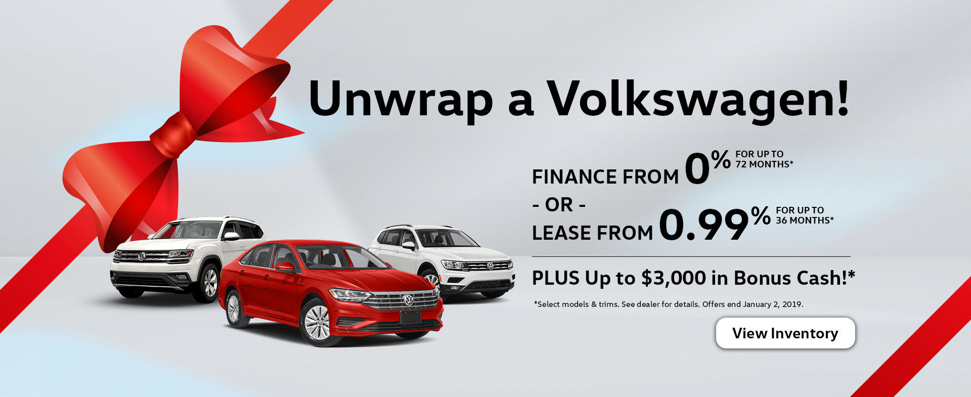 Unwrap a Volkswagen this December