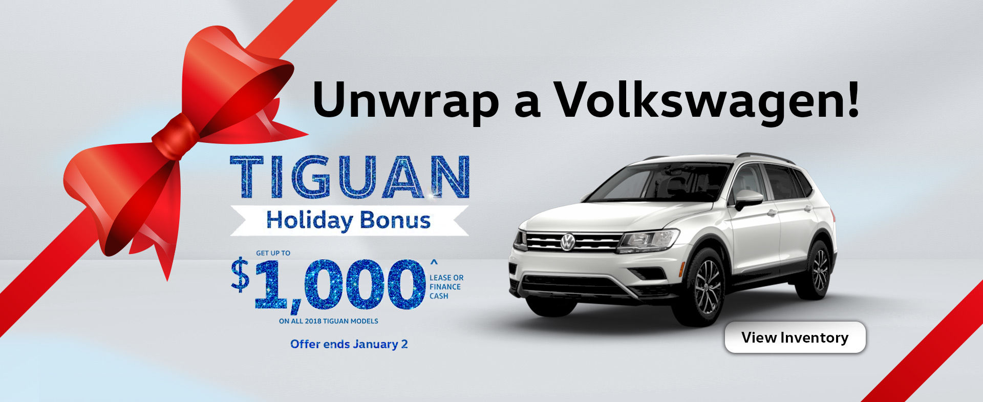 Unwrap a VW Tiguan this December