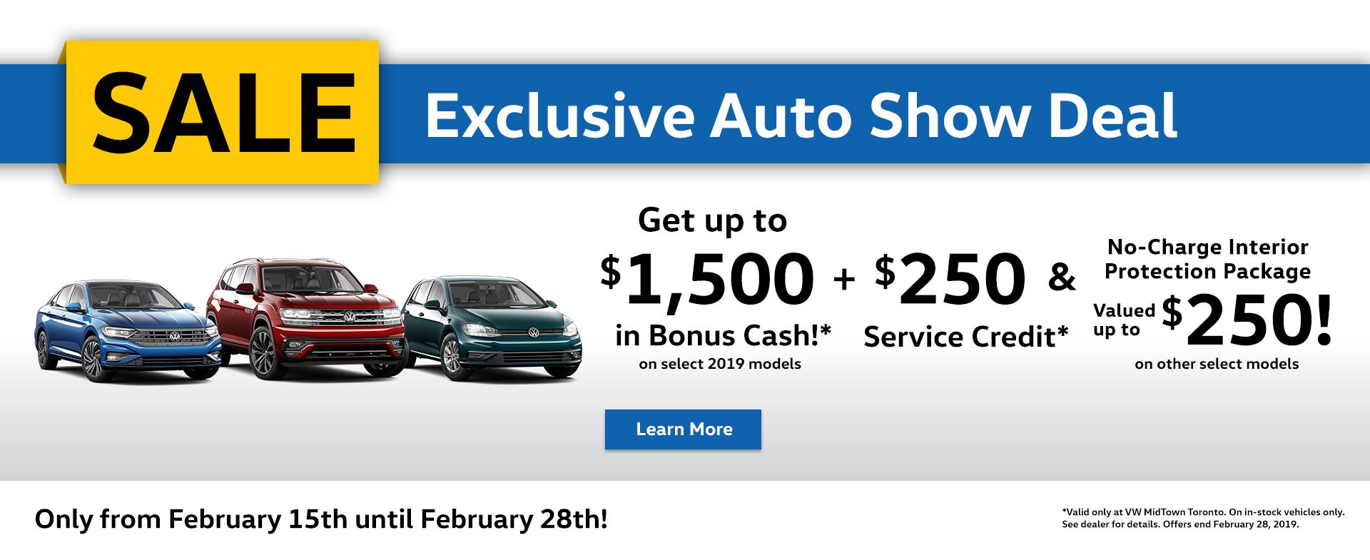 February, Auto Show Sale