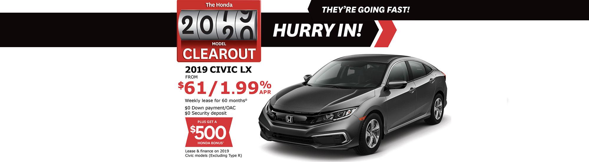 Promo august Honda Civic