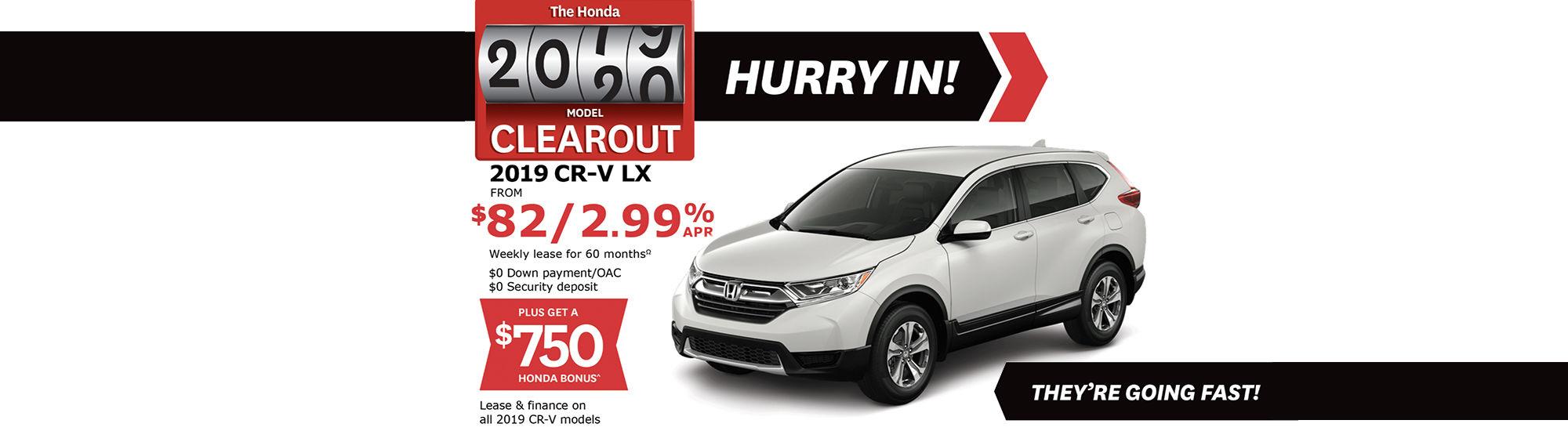 Promo August Honda Cr-v