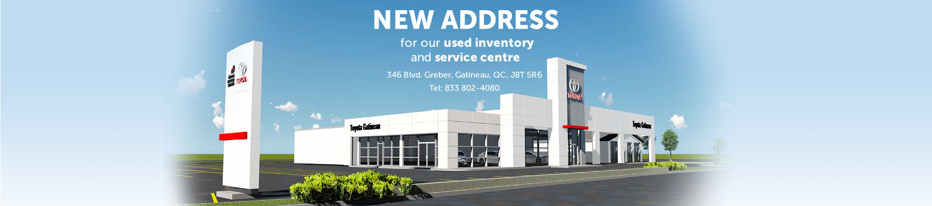 New address - service centre