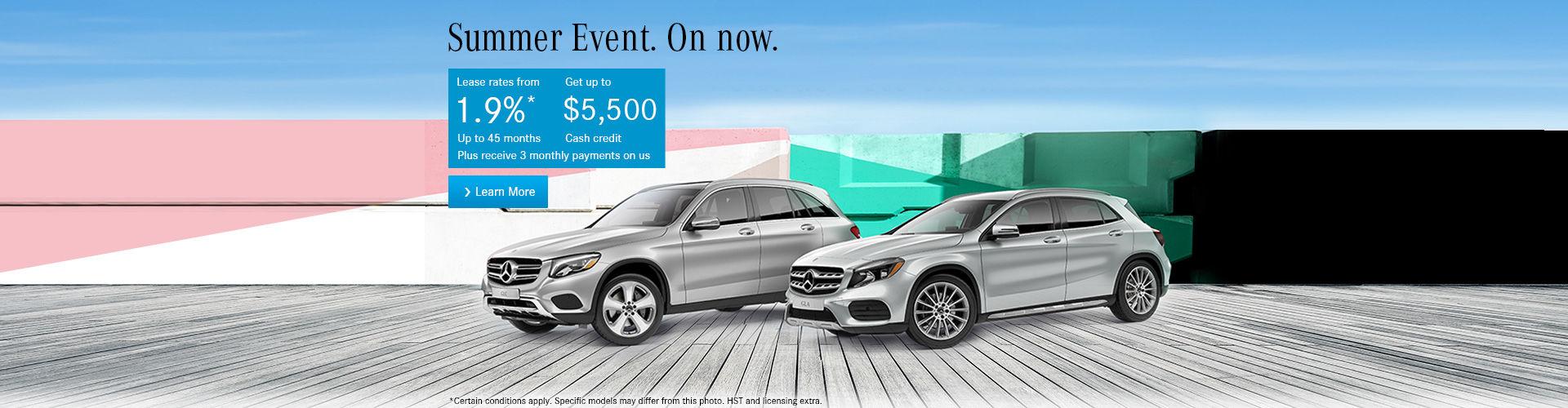 Mercedes Summer Sales Event!