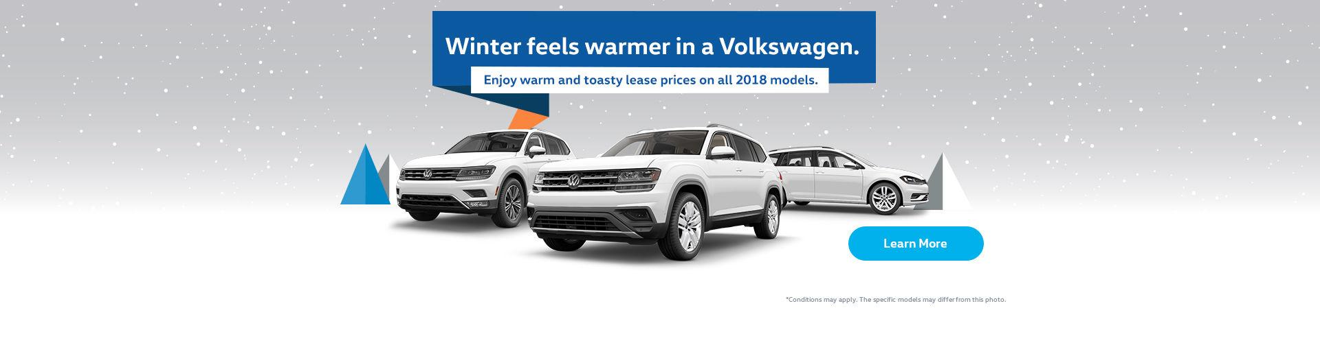 Winter feels warmer in a Volkswagen