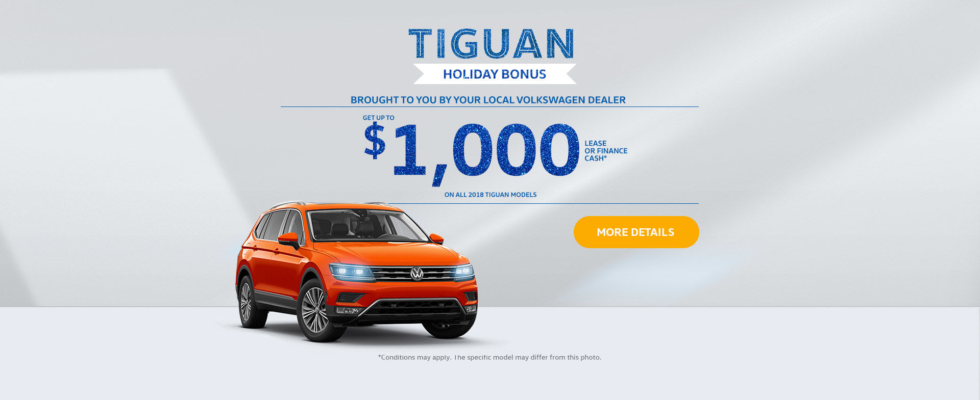 Tiguan Holiday Bonus