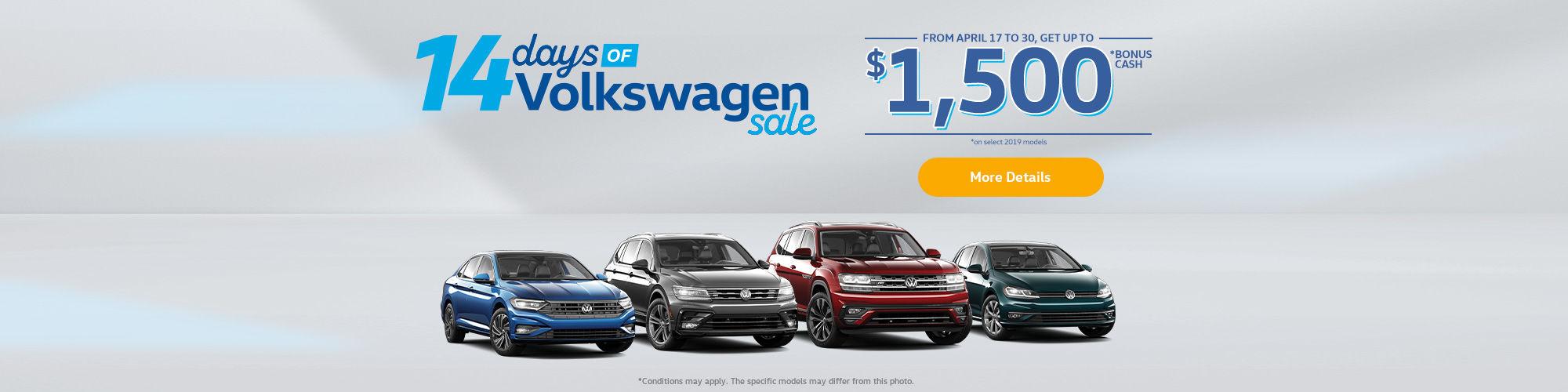 14 Days of Volkswagen Sales Event