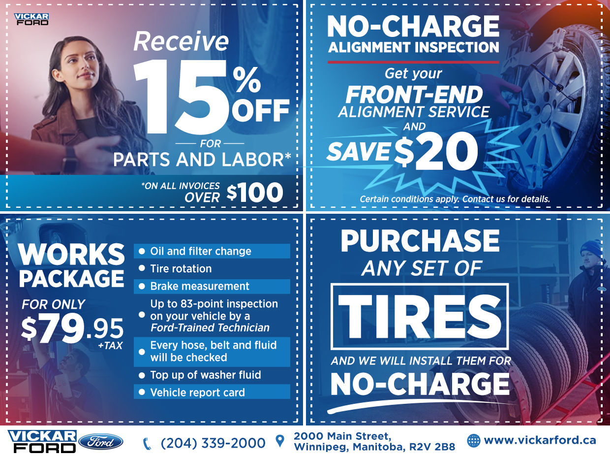 Ford The Works >> Vickar Ford Works Package Special Chez Vickar Ford Winnipeg