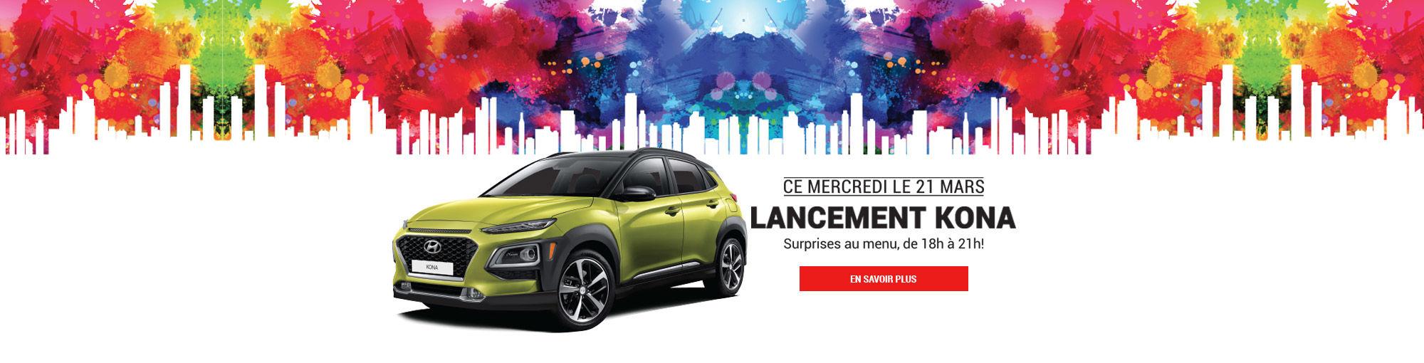 Hyundai Trois-Rivières Nouveau Kona 2018 Lancement Main Header Mars 2018