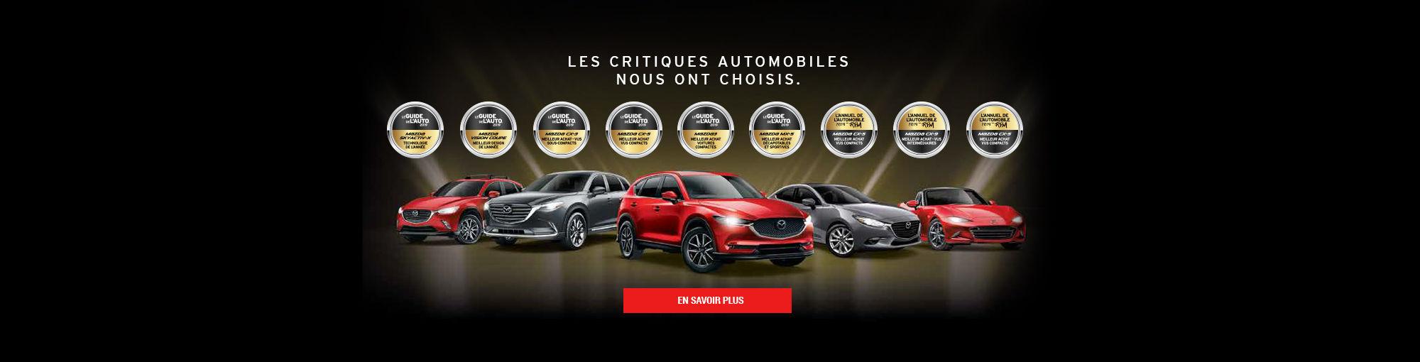Guide de l'auto 2019 Mazda main header septembre 2018