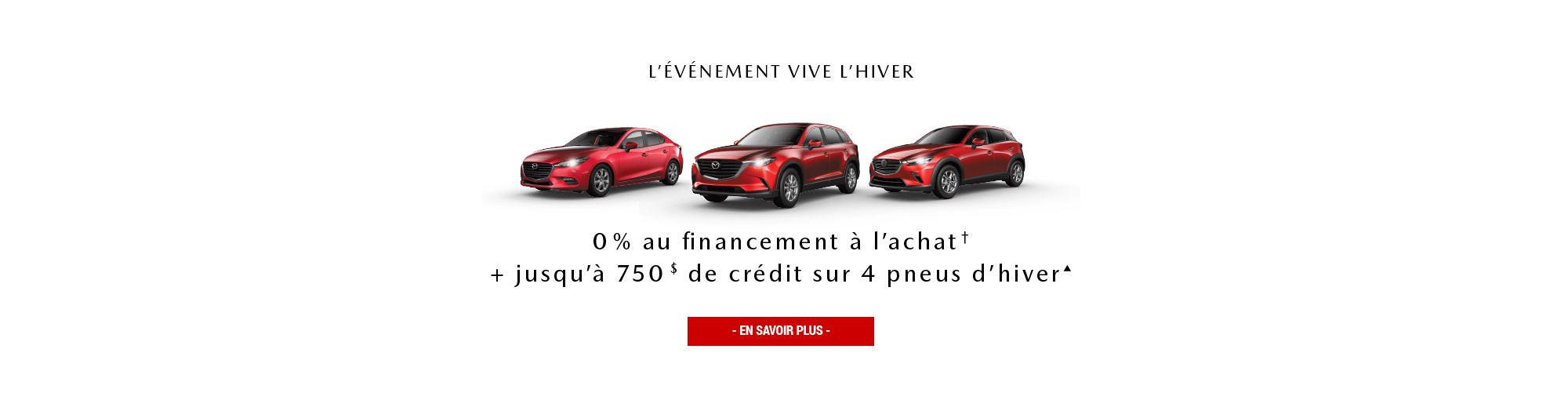 Événement Vive l'hiver Mazda Janvier 2019 Main Header