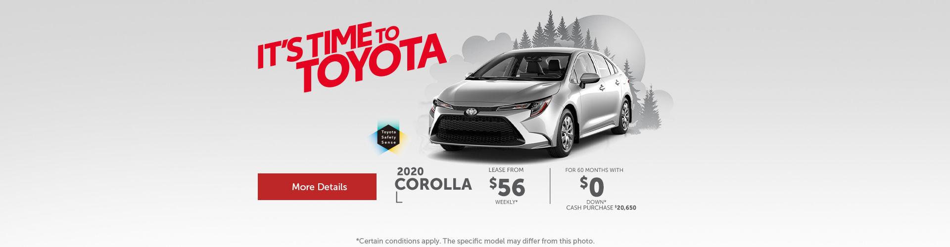 2020 Corolla - header