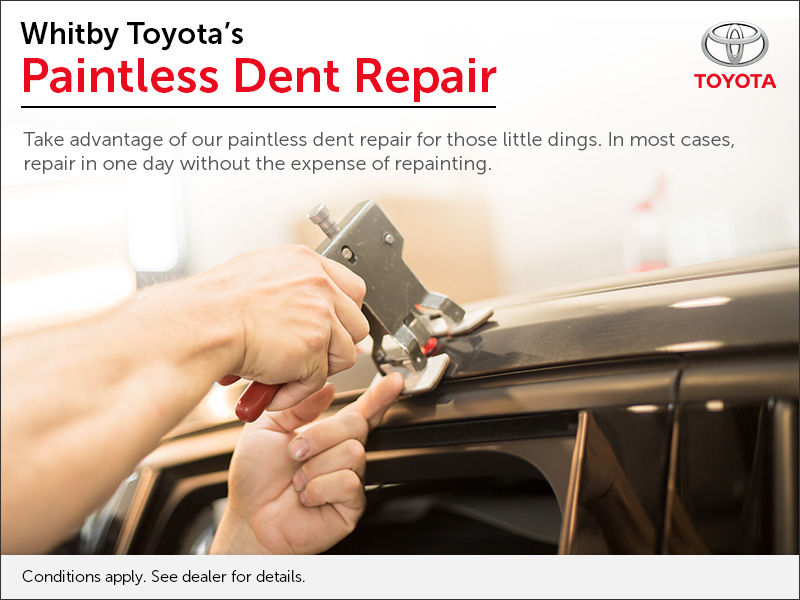 Whitby Toyota-Scion Paintless Dent Repair