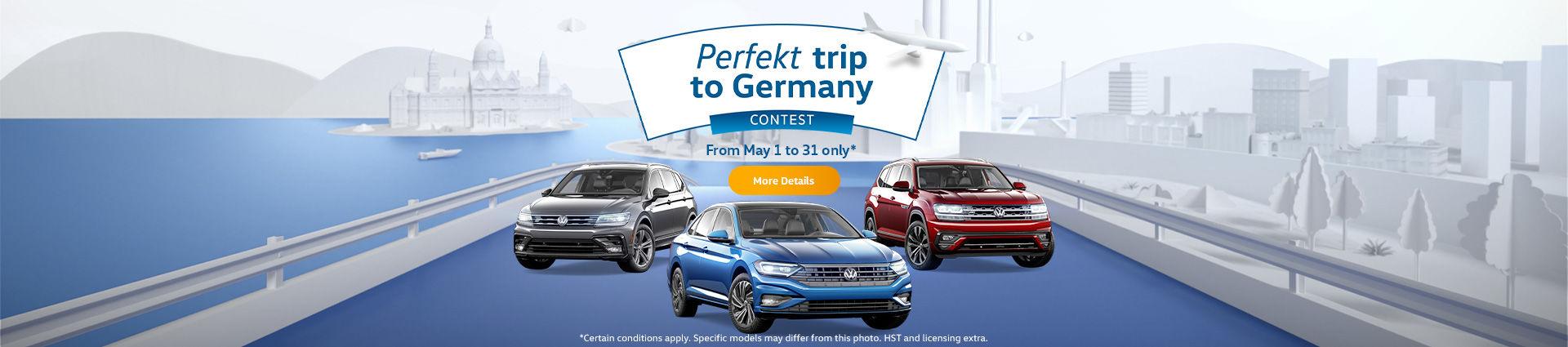 VW Perfekt trip to Germany contest